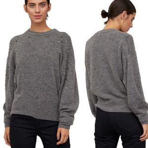H&M Knit Sweater with Embellishments